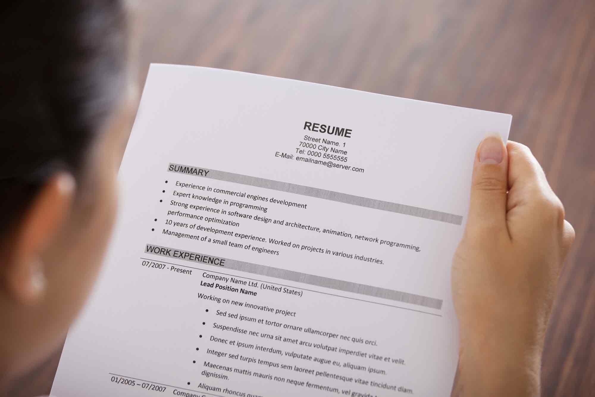 resumes by professionals resumes that get noticed